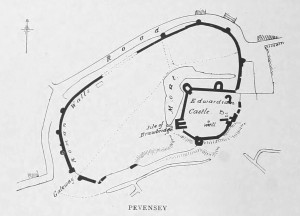 Pevensey Castle Plan
